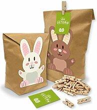 itenga Frohe Ostern Geschenktüten Set Hasenbande