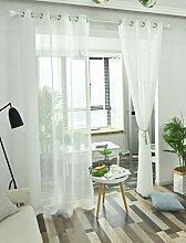iTextilogie Voile Transparent Gardinen Vorhang mit