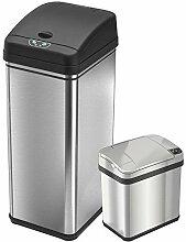 iTouchless Mülleimer mit Sensor, Edelstahl, für