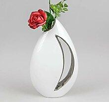 ITRR Formano Vase weiß - Silber; ca. 17x31cm