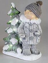 ITRR Formano Winterkind mit Baum LED-Licht 35x45cm