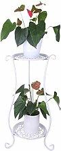 iVansa Metall Blumenständer, Pflanzenregal mit 2
