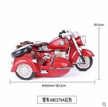 IVintage Motorrad Shop Dekoration Resin Model Heimtextilien Schmuck kreative Kinder Zimmer Requisiten, [Polizei Auto Rot] ABC 275 ein