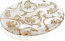 IVV Byzanz Teller oval transparent Dekor Gold