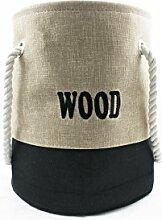 Ivyline Holz Aufbewahrungstasche, klein beige