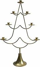 Ivyline Weihnachtsbaum Kerzenhalter gold, 15x