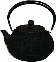 Iwachu Arare Gusseisen Teekanne - schwarz 1.15L
