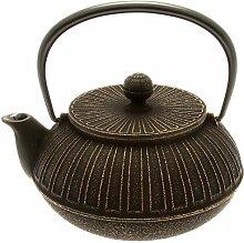 Iwachu Japanische Eisen-Teekanne, Tetsubin, Gold