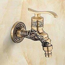 IWQW Wasserhahn Wasserhahn Antik Messing