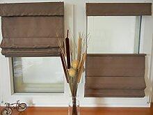 IXX-Design Faltrollo , Raffrollo , Raffstore schnurlos mit Plissee Technik, frei verschiebbar, Farbe: mocca, Größe: 50x130cm, für Decken - Wandmontage und Montage ohne bohren, auf dem Rahmen