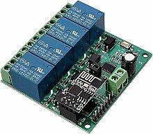 Iycorish 12V ESP8266 Vier Wege WiFi Relais IOT