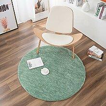 IYSI Runder Teppich Hellgrün Spiel Teppiche