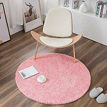 IYSI Runder Teppich rosa Runde Bodenmatte