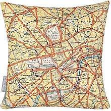 Izabela Peters Garten Kissen Vintage Landkarte -