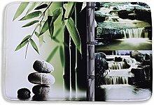 Izielad Landschaft Stein Fluss Bad Matte Waschbare Bad Teppich Für Boden Badezimmer Schlafzimmer Wohnzimmer 15.7x23.6 INCH 40x60CM