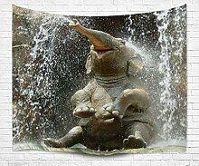 """izielad Tier Elefant Bad Wandkunst Dekoration Wandteppiche für Schlafzimmer Wohnzimmer College Dorm Dekor 180x230cm 71""""x90"""