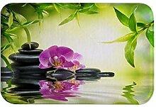 izielad Wasser Stein Grün Blatt Blau Blume Zen