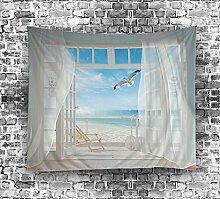 izielad Weiße Fenster Vorhang Taube Wand