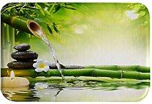 izielad Zen Bambus Blume Stein Kerze Wasser