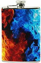 izorax rot gelb blau Flamme Fire Rauch Edelstahl