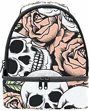 izorax Sugar Skull Flower Isolierte Lunch Tasche