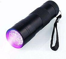 J.Horizon 1 Paar UV LED Taschenlampe UV