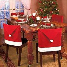 J&L 6 Stück Santa Claus Stuhlhusse