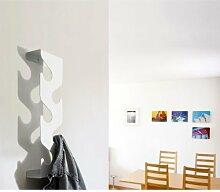 j-me JM2007BLA Garderobe und Regal Peaks, 60 x 16,5 x 8,7 cm, Metall, schwarz