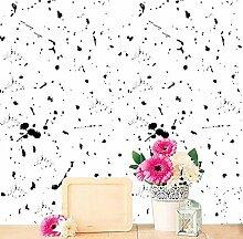 J Moderne einfache Kunst wasserdicht selbstklebende Tapete Wandsticker Wandaufkleber SWP025 , black