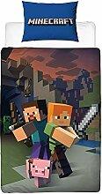J&T Wende Minecraft Bettbezug-Set, Polyester-,
