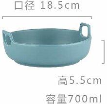 JA Binaural Salatteller aus Matte Keramik Backen