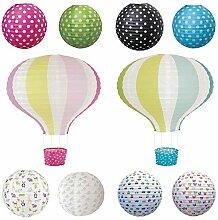JaBaDaBaDo Lampenschirm Papierlampe Lampion Ballon Rot Pink Japanballon