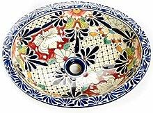 Jacinta - Mexikanisches Ovales Waschbecken | Oval