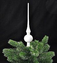 JACK Christbaumspitze Glas 28cm Glanz Weiß