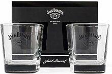Jack Daniels BDA12305 Trinkgläser, Glas, 325 ml