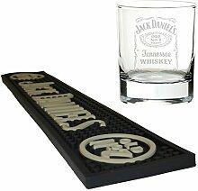 Jack Daniels Bier Matte/Bar Tischläufer mit Mixer