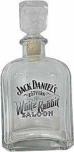 Jack Daniels Dekanter mit Kaninchenmotiv, Weiß