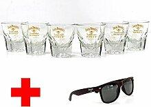 Jack Daniels Gläser 6er Set Gibraltar Whiskyglas