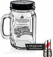 Jack Daniels Glas Gläser Lynchburg Krug mit
