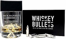 Jack Daniels Glas mit Gravur und Whiskey-Kugeln,