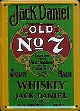 Jack Daniels Mini-Blechschild Blechpostkarte - Green Label - 8x11cm Nostalgieschild Retro Schild Metal tin sign