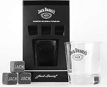 JACK DANIELS Old No. 7, Glas, Tumbler & Stones