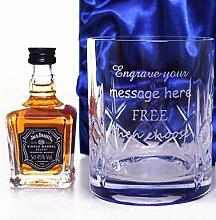 Jack Daniels Set aus Kristallglas und