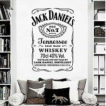 Jack Daniels Tennessee Whisky Label Stencil Pub