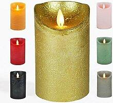 JACK LED Echtwachskerze Kerze viele Farben DREI