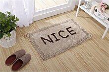 Jack Mall- Absorbent Cotton Badematte Antirutschmatten Fußmatte Teppich Mats Badezimmer Mats ( farbe : Kamel , größe : 45*120cm )