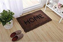 Jack Mall- Absorbent Cotton Badematte Antirutschmatten Fußmatte Teppich Mats Badezimmer Mats ( farbe : Chocolate Brown , größe : 60*90cm )