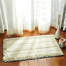 Jack Mall- Absorbent Cotton Badematte Antirutschmatten Fußmatte Teppich Mats Badezimmer Mats ( farbe : Beige )
