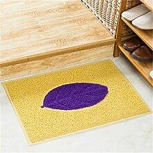 Jack Mall- Draht-Gehäuse Pad Fußmatte Fußmatte Eingangshalle Home Home Türmatten Anti-Rutsch Badematte ( farbe : Gelb , größe : M )