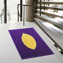 Jack Mall- Draht-Gehäuse Pad Fußmatte Fußmatte Eingangshalle Home Home Türmatten Anti-Rutsch Badematte ( farbe : Lila , größe : M )